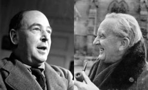 C.S. Lewis (left) took a late night walk with J.R.R. Tolkien (right) to discuss Tolkien's Christian faith.