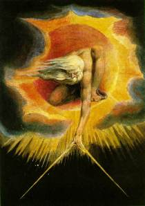 The Ancient of Days. 1794.  Watercolor by William Blake.