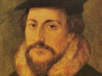 John Calvin, the young French Reformer, who inherited the leadership of the Swiss Reformed movement from Zwingli.