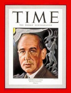 "C.S. Lewis on the cover of Time magazine, 1947.  Did he ultimately find ""Evolution"" to be compatible or in conflict with Biblical faith?"