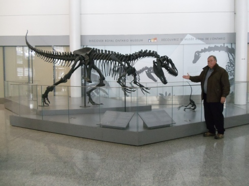 Dinosaur at Toronto Airport