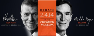 Ken Ham and Bill Nye debate tonight. Do not expect a lot of nuance or substance, but there will be a lively discussion.