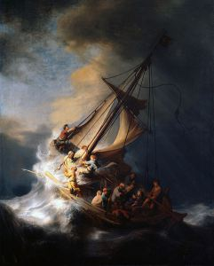 Rembrandt (1606-1699). The Storm on the Sea in Galilee.