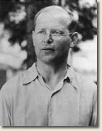 Dietrich Bonhoeffer in the courtyard of the Tegel military prison