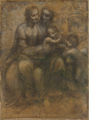 The Virgin and Child with Saint Anne and Saint John the Baptist, Leonardo da Vinci, c. 1499
