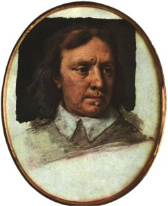 Oliver Cromwell (1599-1658), Lord Protector of England, and Christian reformer of church and civil governance. A hero of liberty to some. A fanatical tyrant to others.  From an unfinished portrait by Samuel Cooper (credit: Wikipedia)