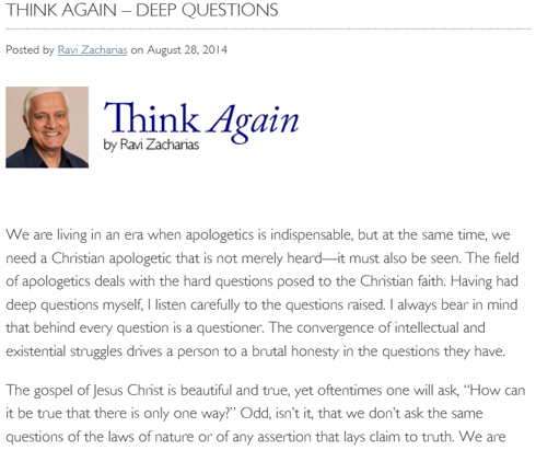 Ravi-Zacharias: Truth