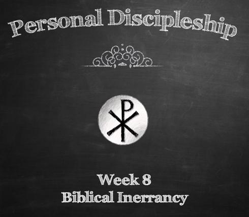 2015 Personal Discipleship - Week 8