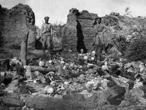 A conflict of versions of history: Armenians claim that 1.5 million of them were killed in 1915-16 in the former Turkish Ottoman Empire. Turkey has a lower figure of 500,000. (photo credit: AFP/Getty, from the The Independent)