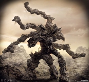 Darren Aronofsky's Nephilim in his 2014 film, Noah. Rock-creatures that look like the tree-creatures in the Lord of the Rings?... Yeah, right.