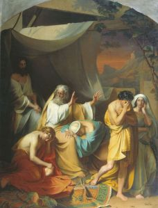 Noah curses his son Ham, a 19th-century painting by Ivan Stepanovitch Ksenofontov. Ham looks pretty white to me here, but for thousands of Christians in the American South from at least the 19th century to recent times, thought Ham had black skin.