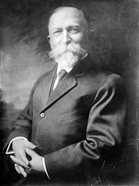 John Harvey Kellogg (1852-1943). Medical doctor who directed the Seventh-Day Adventist Battle Creek Michigan Sanitarium, and along with his brother, Will Keith Kellogg, the inventor of Kellogg corn flakes cereal.