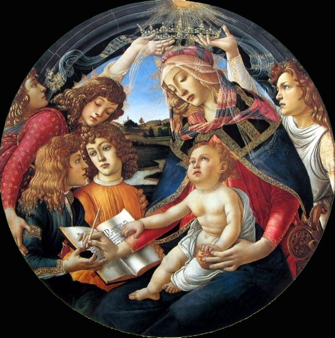Sandro Botticelli's Madonna of the Magnificat (1481, Italy)