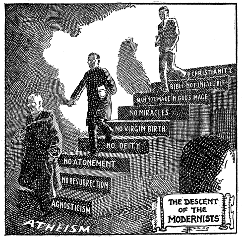 Descent of the Modernists, E. J. Pace, 1922. Many have slid down a slippery slope towards unbelief. But is such a slide inevitable? I think not.