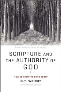 """N.T. Wright's Scripture and the Authority of God (2013) is a contemporary restatement emphasizing the Bible's supreme authority in matter's of Christian faith and practice. Wright affirms the priority of the Bible without getting bogged down into the technical details often associated with """"inerrancy."""""""