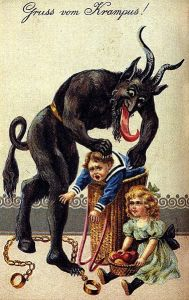 A 'Greetings for the Kampus' Christmas postcard from the early 1900s (source: Wikipedia)