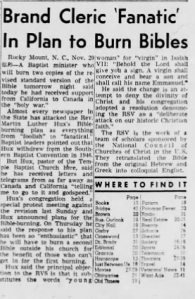 From the front page of the Brooklyn Eagle, a New York City newspaper, Sunday, November, 1952.