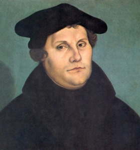 Martin Luther (1483-1546), by Cranach (credit: Wikipedia)
