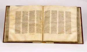 Codex Sinaiticus, includes the earliest complete copy of the Septuagint (LXX), the Greek translation of the Old Testament used by the early church (credit: bible archaeology.org)