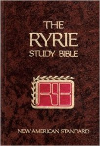 The Ryrie Study Bible. One of the most influential aids for understanding the English Bible for decades.
