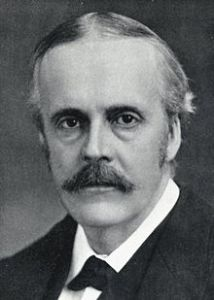 Lord Arthur Balfour (1848-1930), British political leader behind the Balfour declaration, promising a home for the Jewish people in Palestine (credit: Wikipedia)