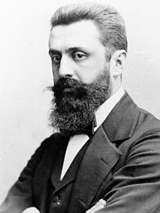 Theodor Herzl (1860-1904), one of the chief visionaries behind modern Zionist, the desire for a Jewish state in Palestine (credit: Wikipedia)