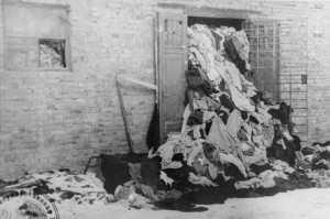 A warehouse at Auschwitz, storing clothes of camp victims, after liberation in January 1945. Everyone should visit the United States Holocaust Memorial Museum (Credit: National Archives)