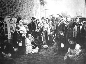 Jewish refugees in Liverpool, 1882, fleeing pogroms.