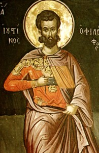 "Justin Martyr, 2nd century Christian apologist. An early advocate of an anti-Judaic ""replacement theology,"" but who oddly embraced a premillennial view of the End Times."