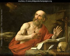 Saint Jerome (347-420 A.D.). Translator of the Latin Vulgate... and sometimes promoter of anti-Jewish ideas.