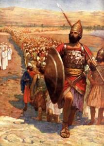 The traditional Sunday School image shows Joshua leading about 600,000 armed Israelites into the land of Canaan, across the river Jordan. But was that really the size of Joshua's army?