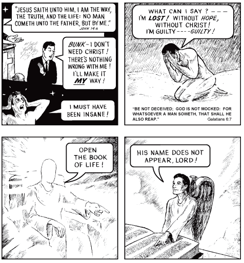 Jack Chick, fundamentalist cartoonist, died at age 92, on October 23, 2016. His most popular comic book tract was This Was Your Life.