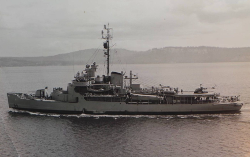 USS Burton Island, Navy ice breaker, 1954.