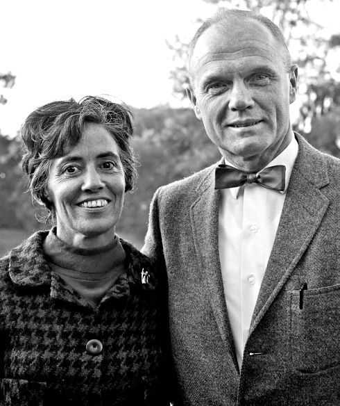 Annie and John Glenn, in 1965. They where married for 73 years, until his death in December, 2016.