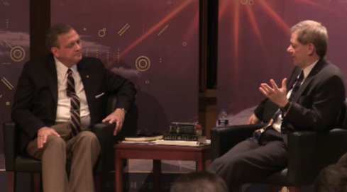 Albert Mohler and C. John Collins at the Evangelical Free Church of America Theology Conference, 2017 (Henry Center, Trinity International University)